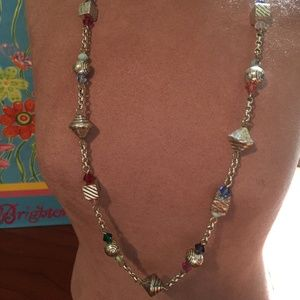 Brighton silver and multi colored beads necklace